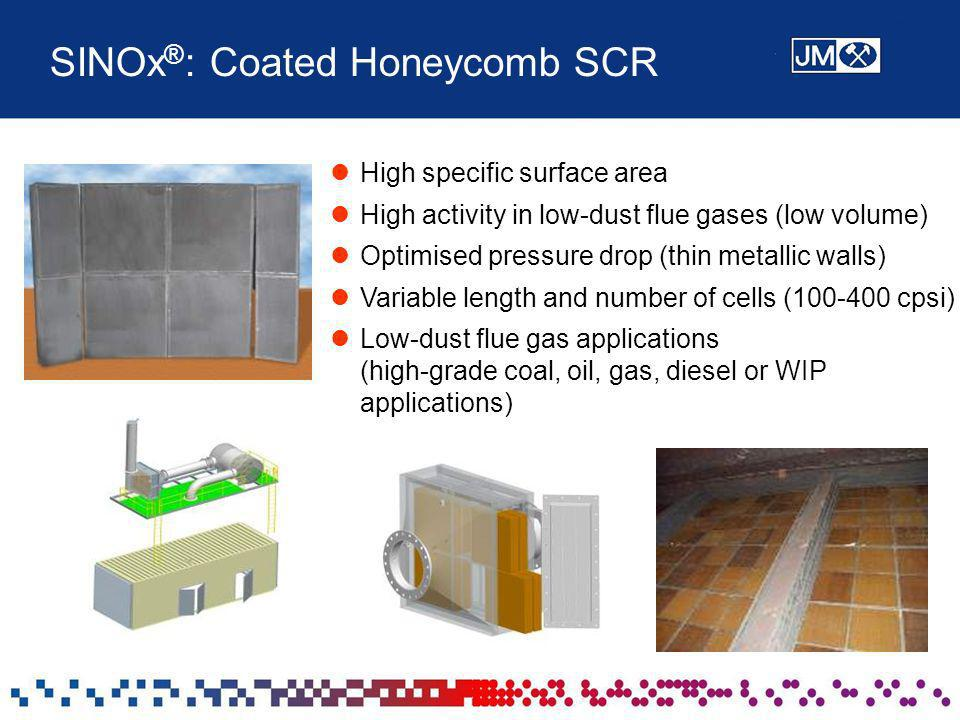 SINOx®: Coated Honeycomb SCR