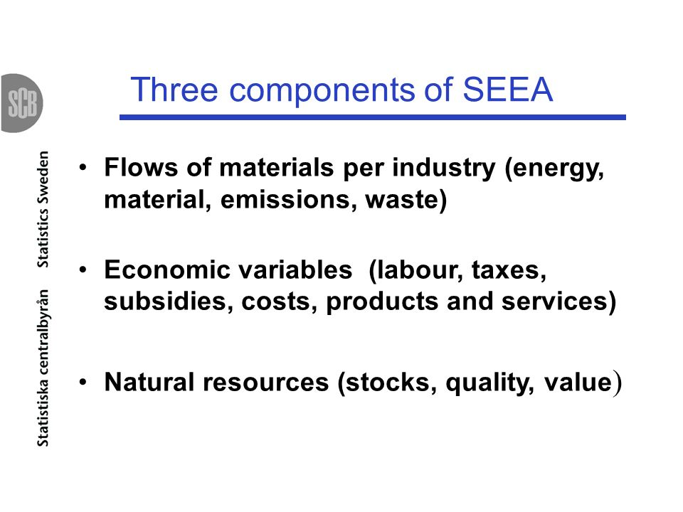 Three components of SEEA