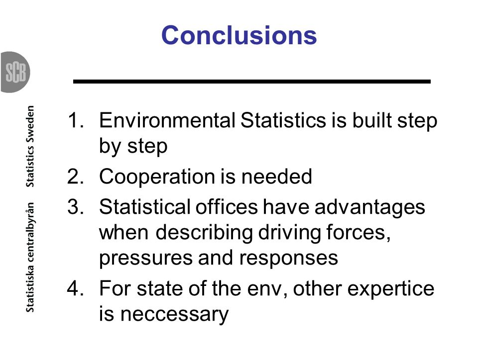Conclusions Environmental Statistics is built step by step