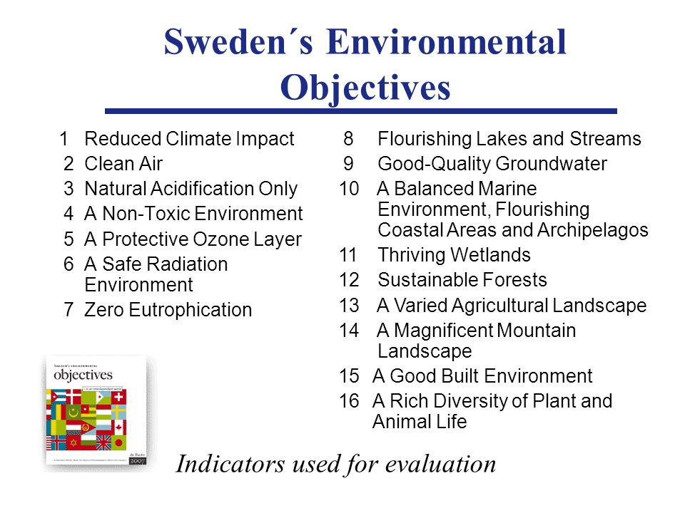 Sweden´s Environmental Objectives