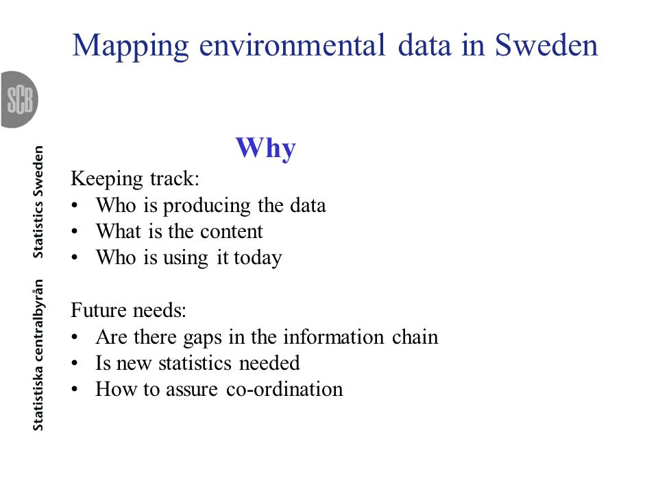 Mapping environmental data in Sweden