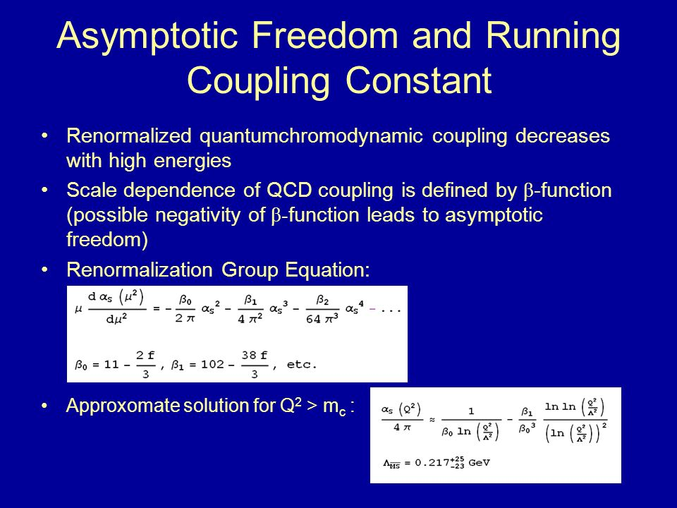 Asymptotic Freedom and Running Coupling Constant