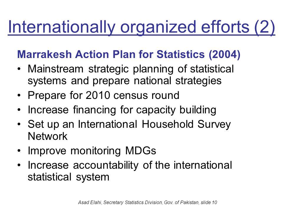 Internationally organized efforts (2)