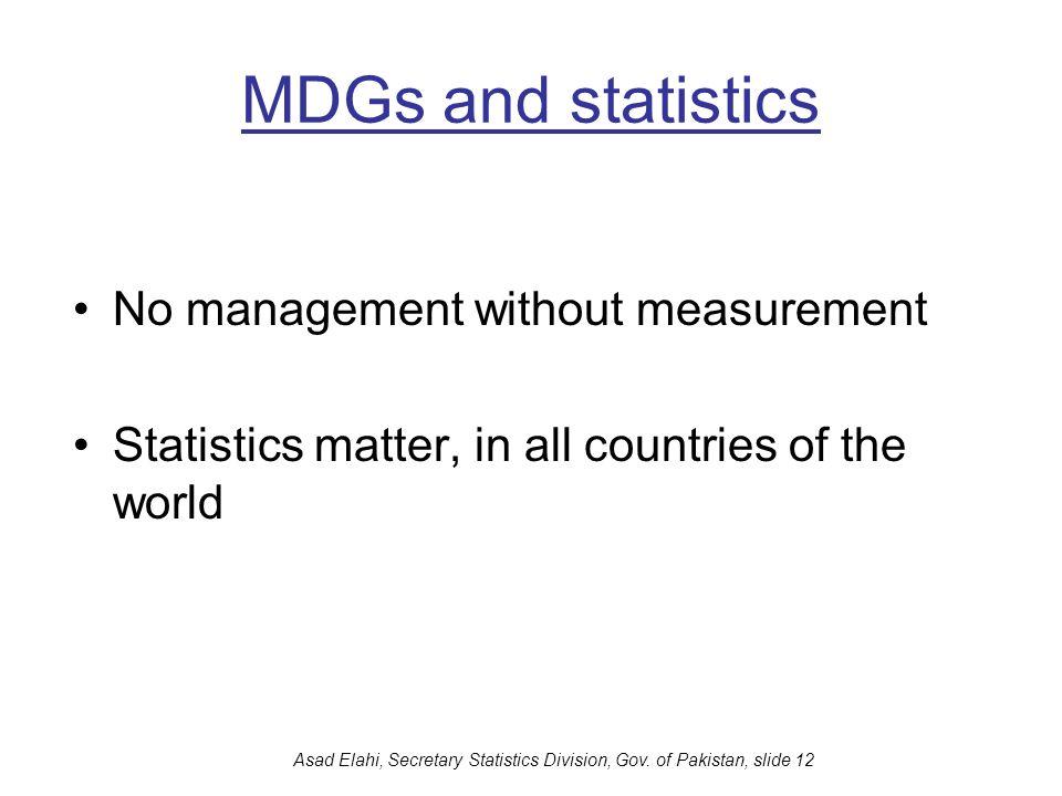Asad Elahi, Secretary Statistics Division, Gov. of Pakistan, slide 12