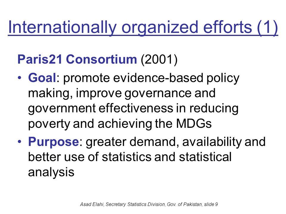 Internationally organized efforts (1)