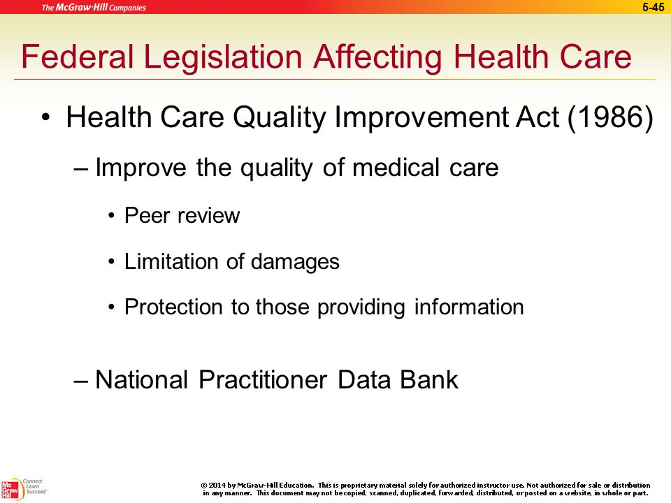 Federal health care policy issues and health care reform