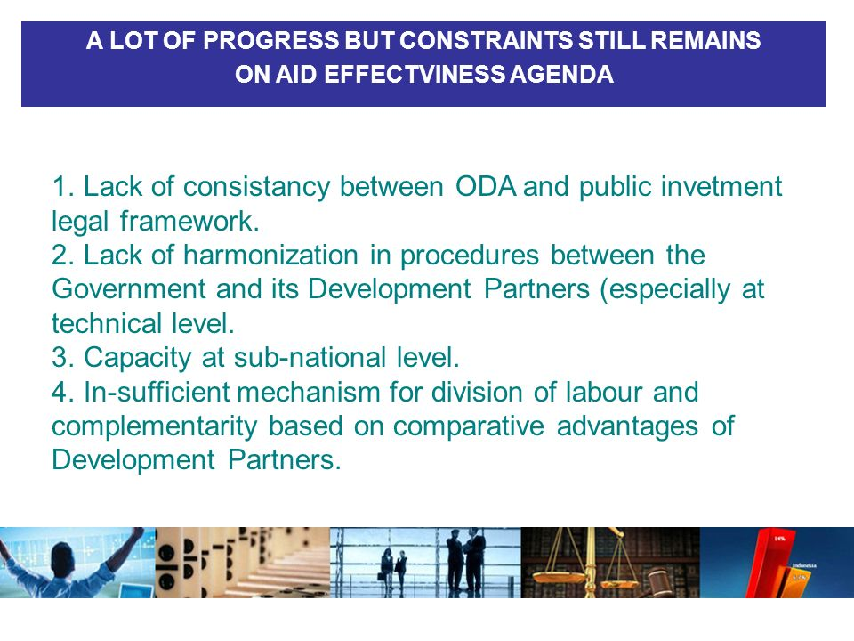 Lack of consistancy between ODA and public invetment legal framework.
