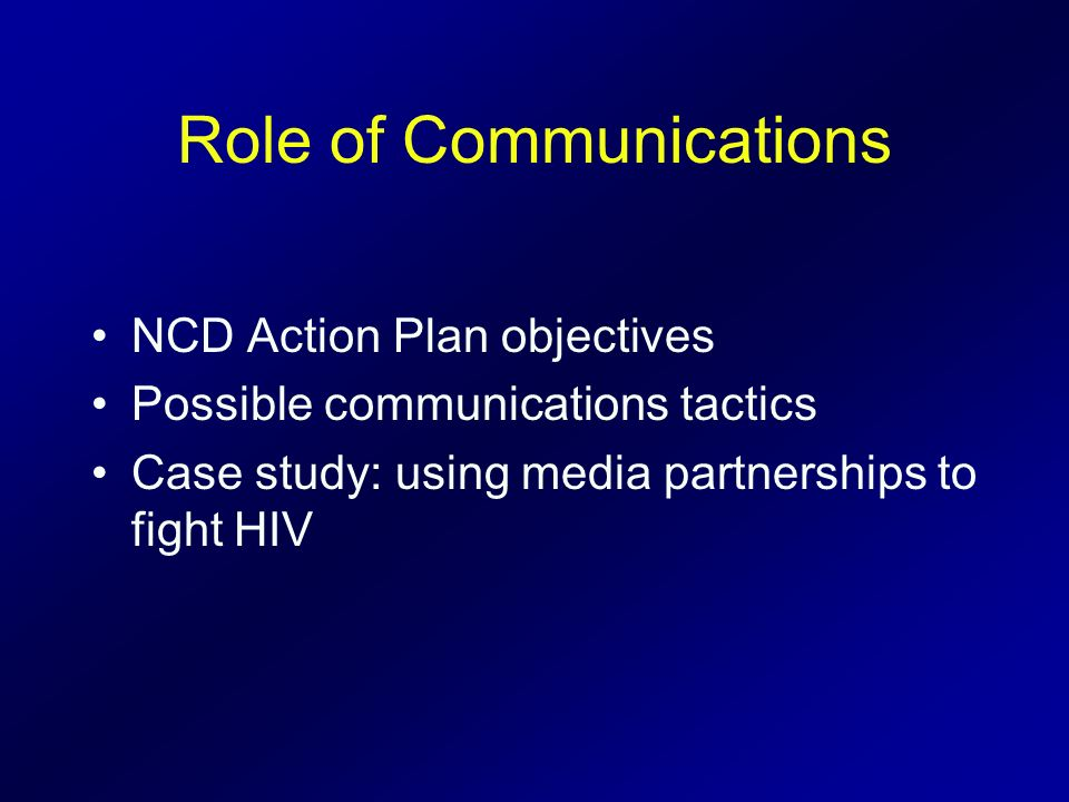 Role of Communications