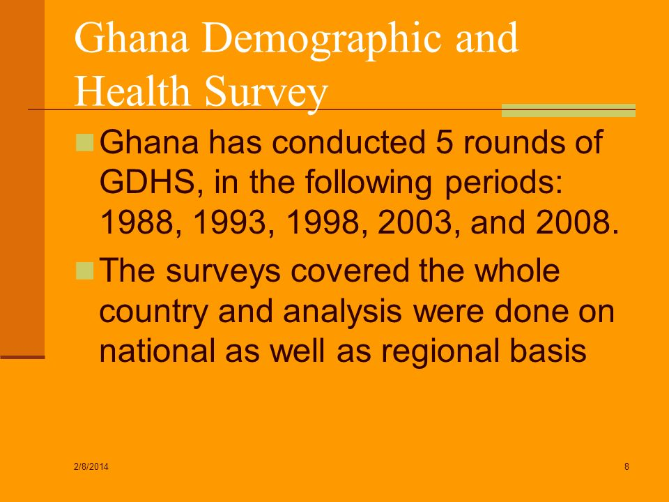 Ghana Demographic and Health Survey