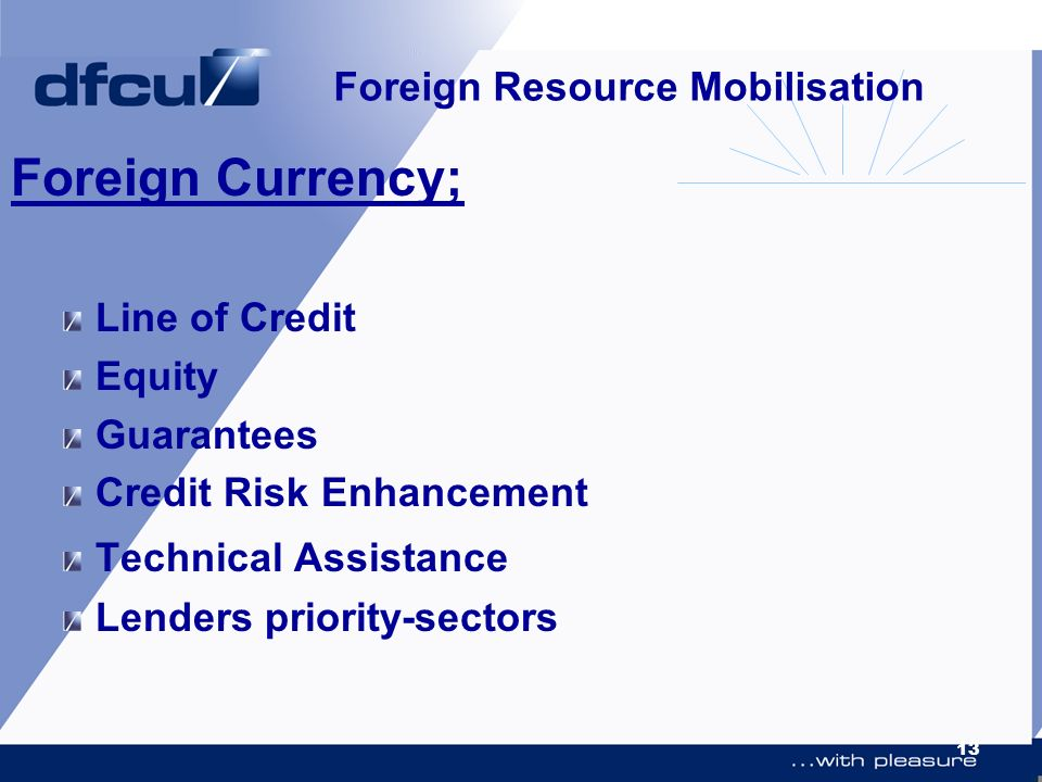 Foreign Resource Mobilisation