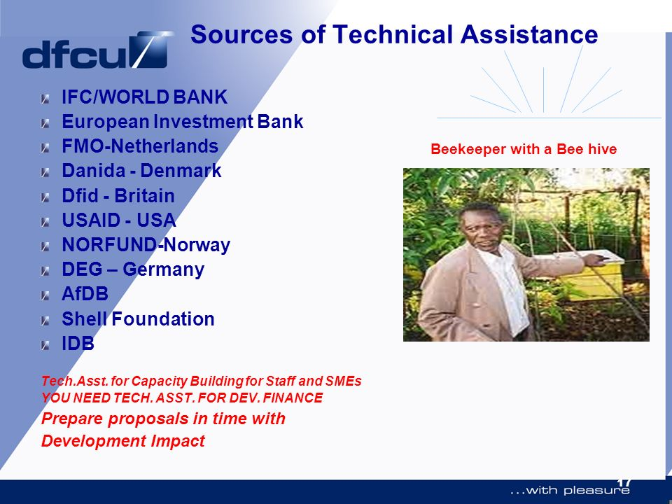 Sources of Technical Assistance