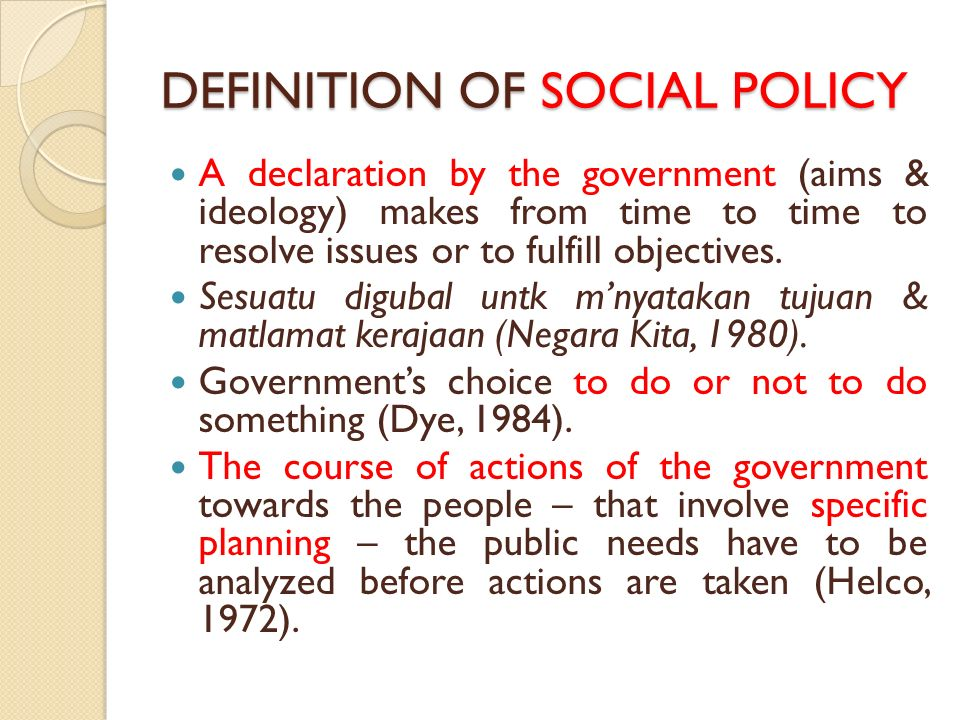 What is Social Policy? - Social Policy and Social Work, The ...