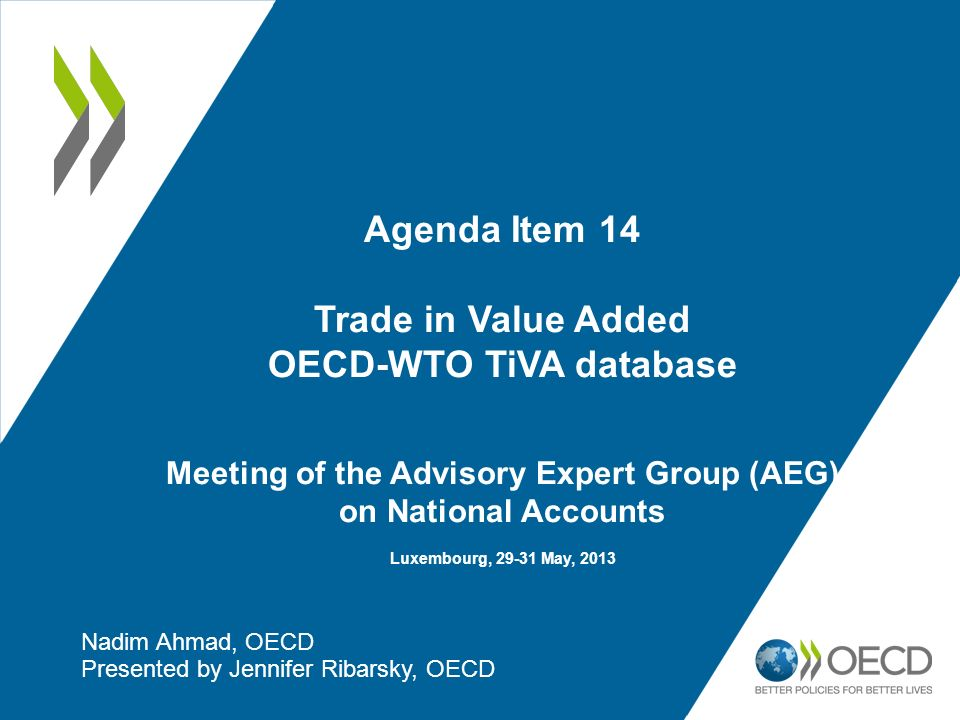 Nadim Ahmad, OECD Presented by Jennifer Ribarsky, OECD