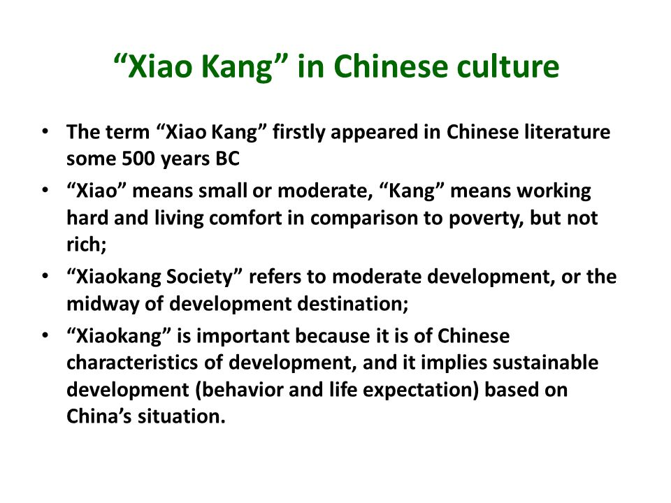 Xiao Kang in Chinese culture