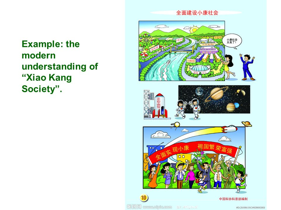 Example: the modern understanding of Xiao Kang Society .