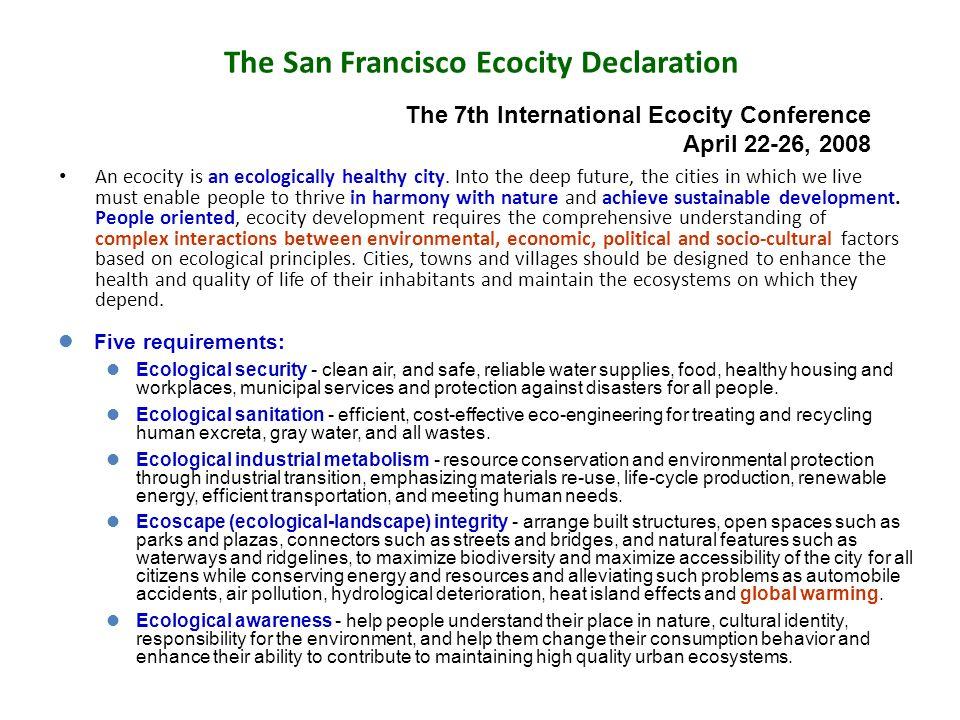 The San Francisco Ecocity Declaration