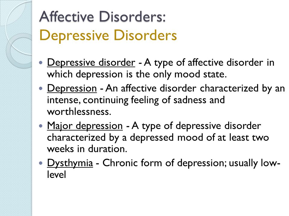 the characteristics and symptoms of the bipolar affective disorder Bipolar depression vs unipolar depression  individuals with bipolar disorder also have high moods known as  below is a closer look at the symptoms of both.