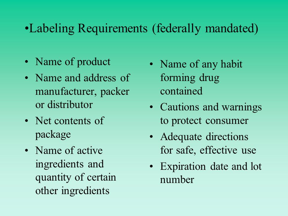 Regulations Pertaining To Expiration Dating Of Drug Products