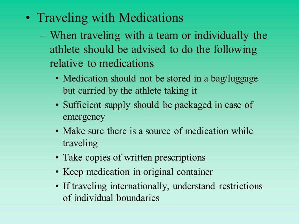 Traveling With Medication Internationally