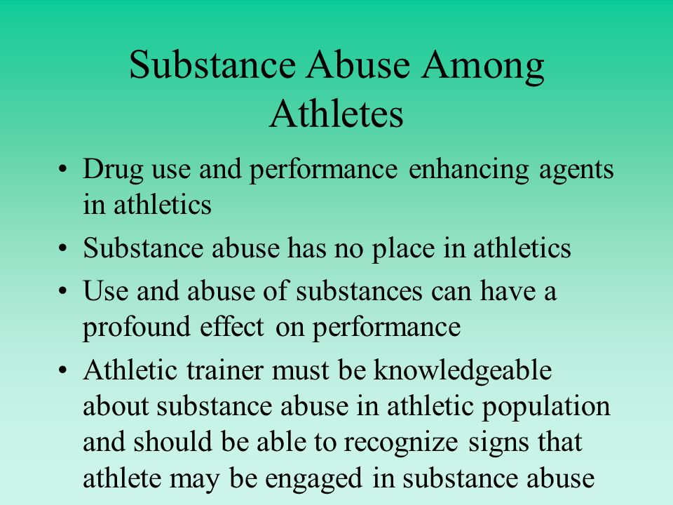 drugs used in sports and their abuse by athletes The list of professional athletes who struggled with drug and alcohol addiction is a long one it's longer than we'll ever know, to be sure from ex-nfl linemen addicted to vicodin to hard-drinking basketball players, many stars of the sporting world have indulged more than they ought to have.