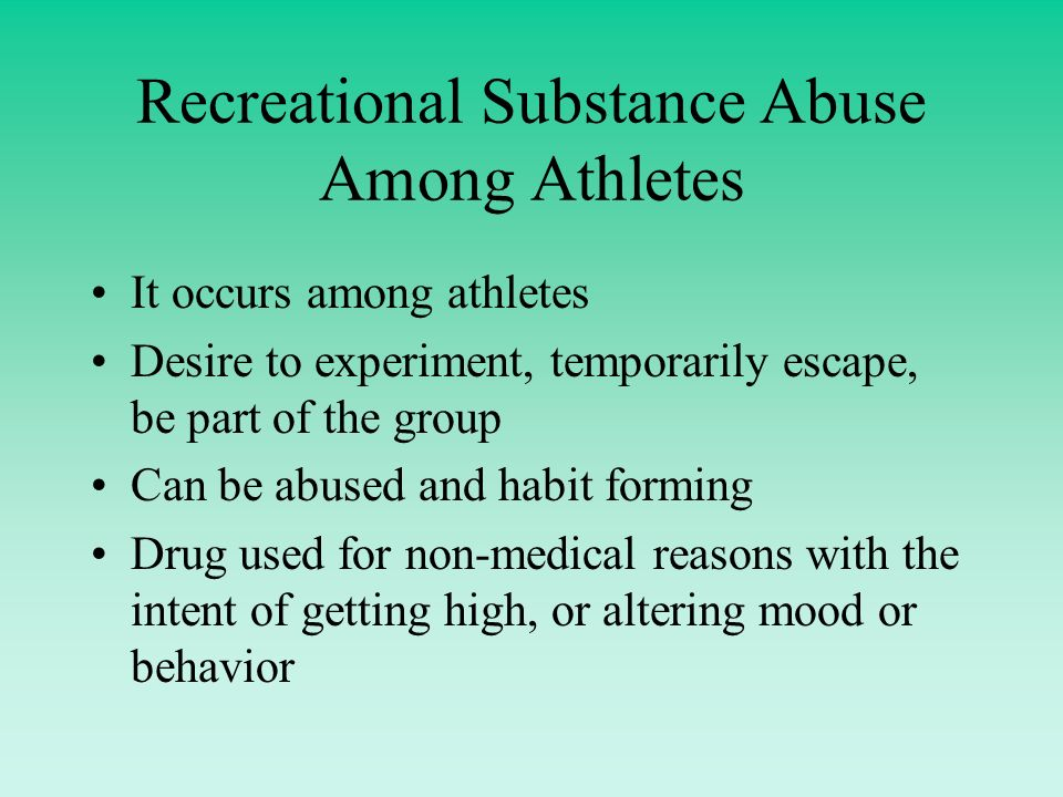 drug use among athletes essay Most high school teams refuse to perform drug tests because they suspect athletes use drugs this avoidance of the truth allows many athletes to get places they do not belong.