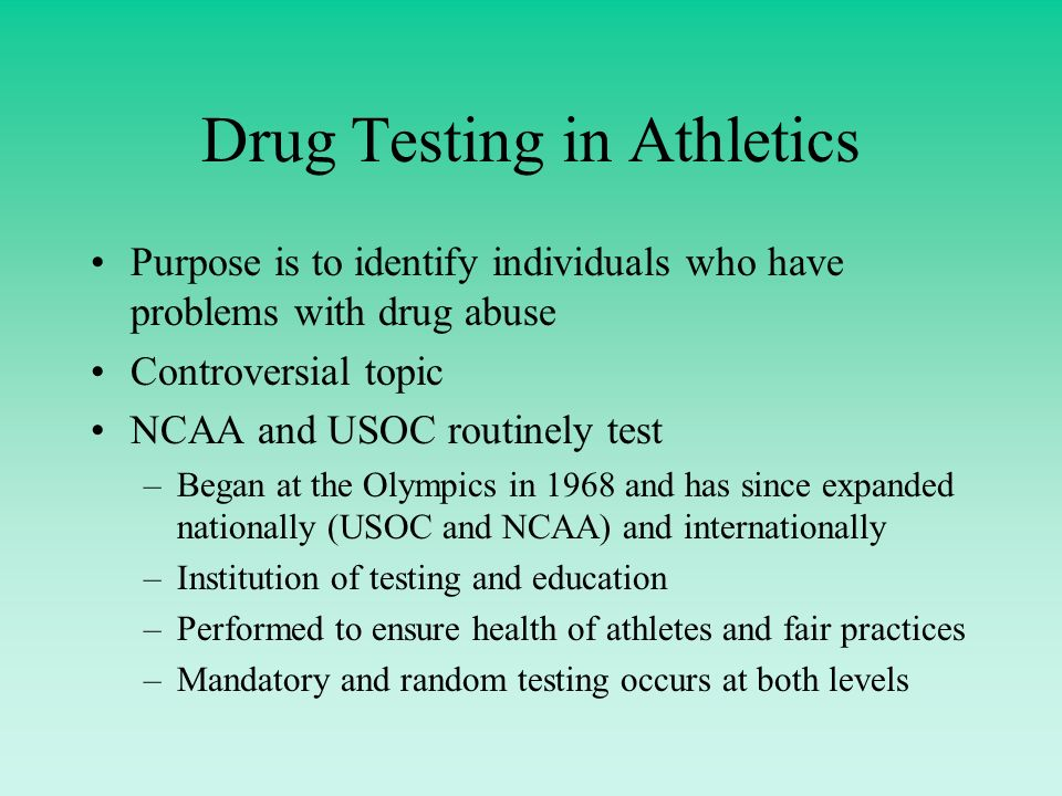 Drugs and Testing
