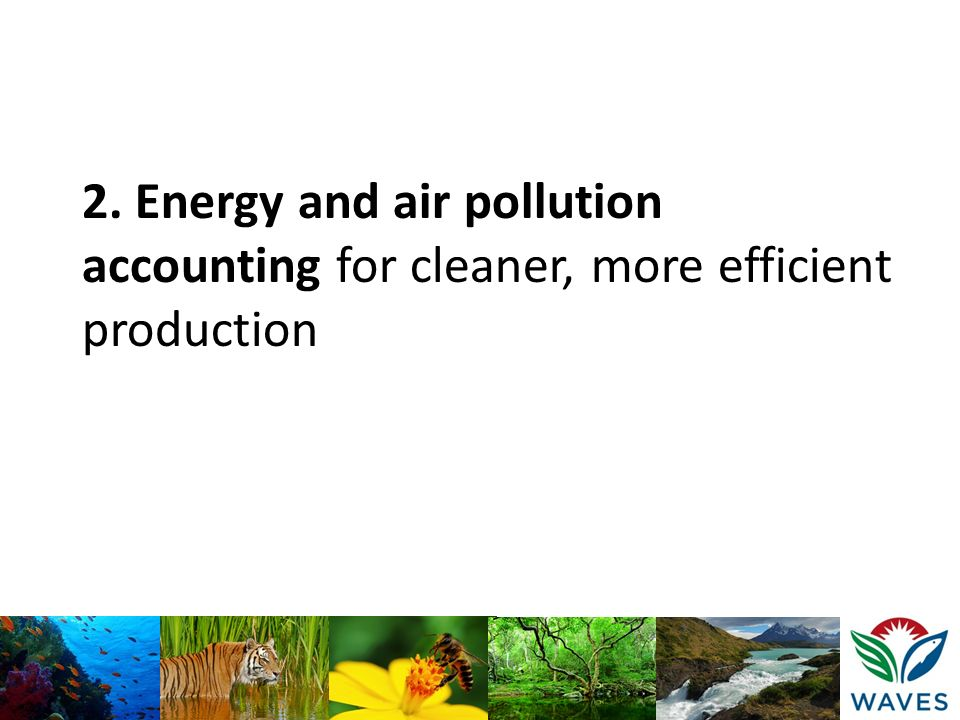 2. Energy and air pollution accounting for cleaner, more efficient production