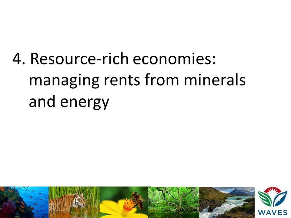 4. Resource-rich economies: managing rents from minerals and energy