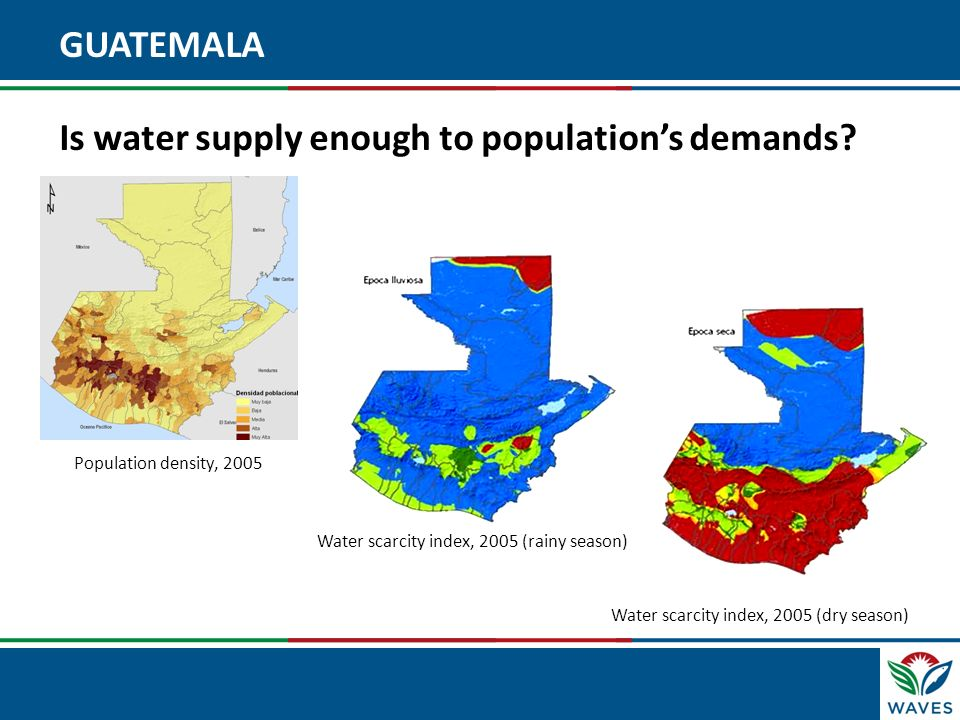 GUATEMALA Is water supply enough to population's demands