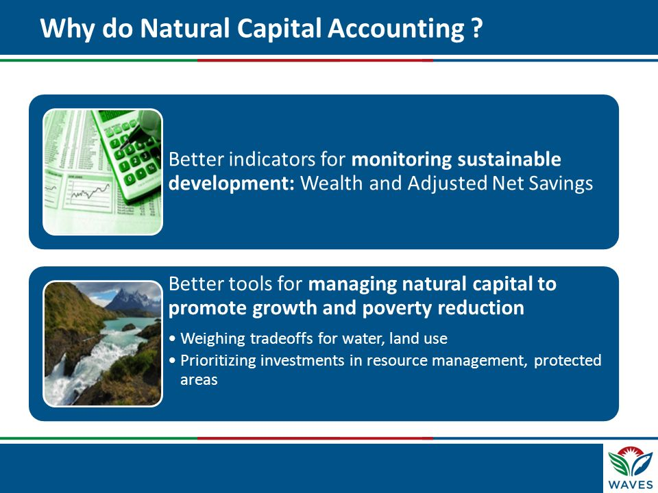 Why do Natural Capital Accounting