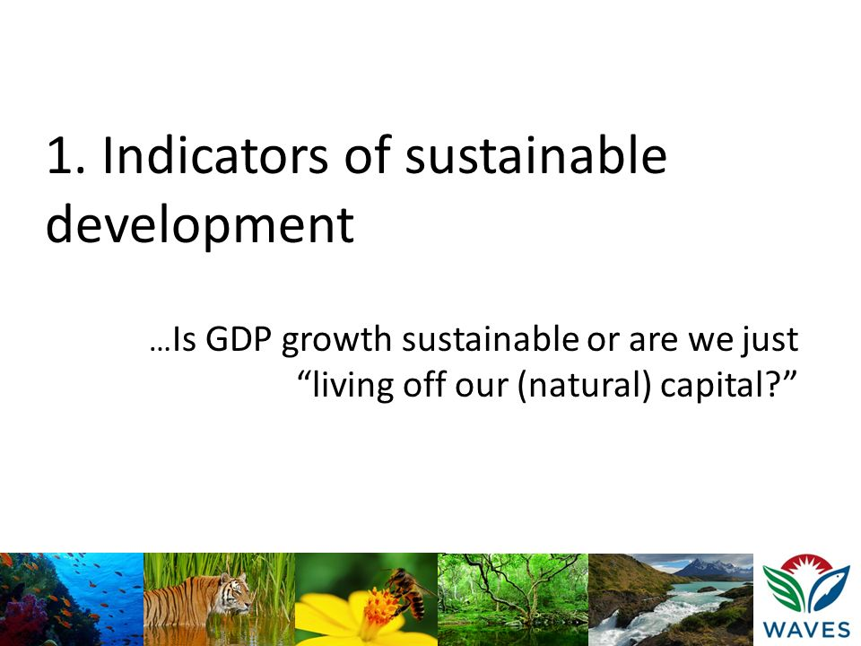 1. Indicators of sustainable development