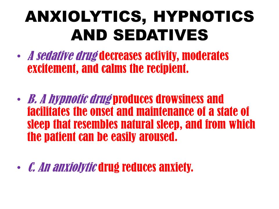 pharmacology cns 2 anxiolytics, hypnotics and sedatives - ppt, Skeleton