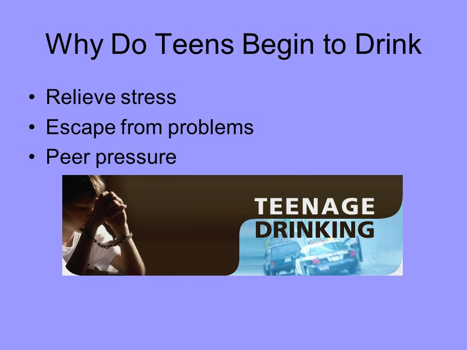 explain why teens do drugs Parents should talk with teens about alcohol and drugs at  how to keep teens alcohol and drug free this  can do to keep teens away from alcohol and drugs.