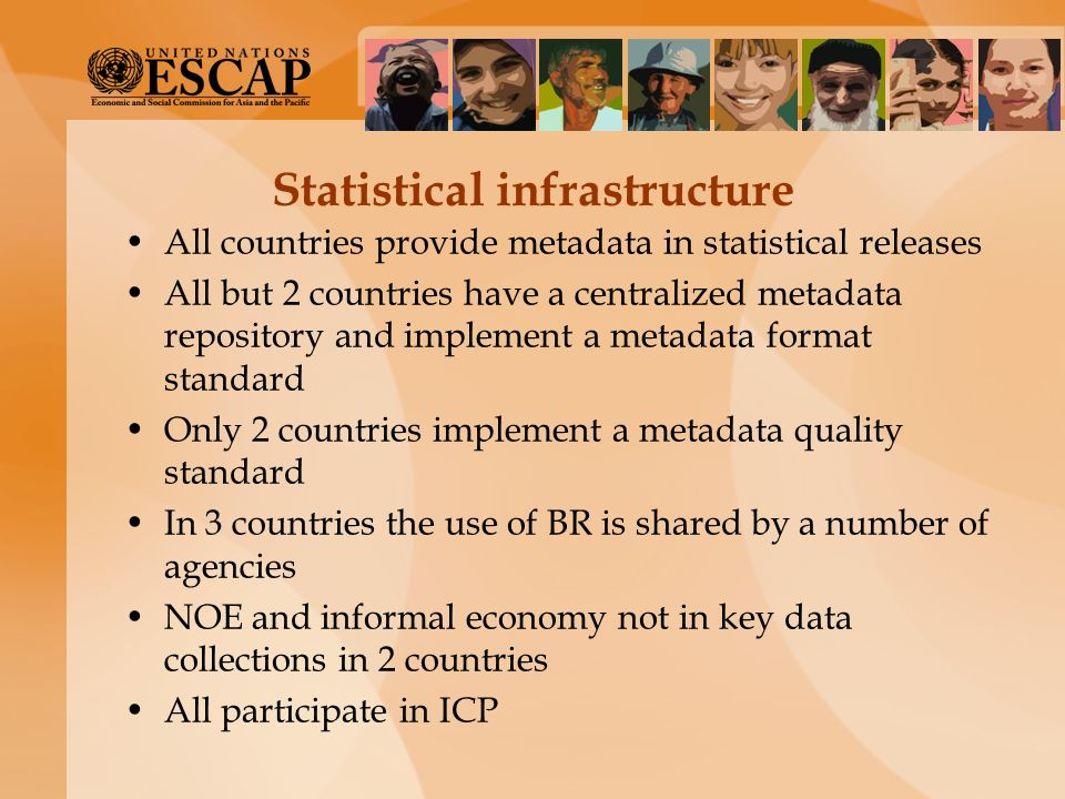 Statistical infrastructure
