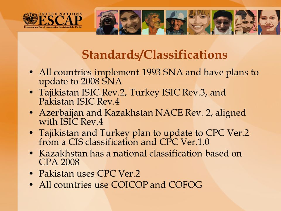 Standards/Classifications