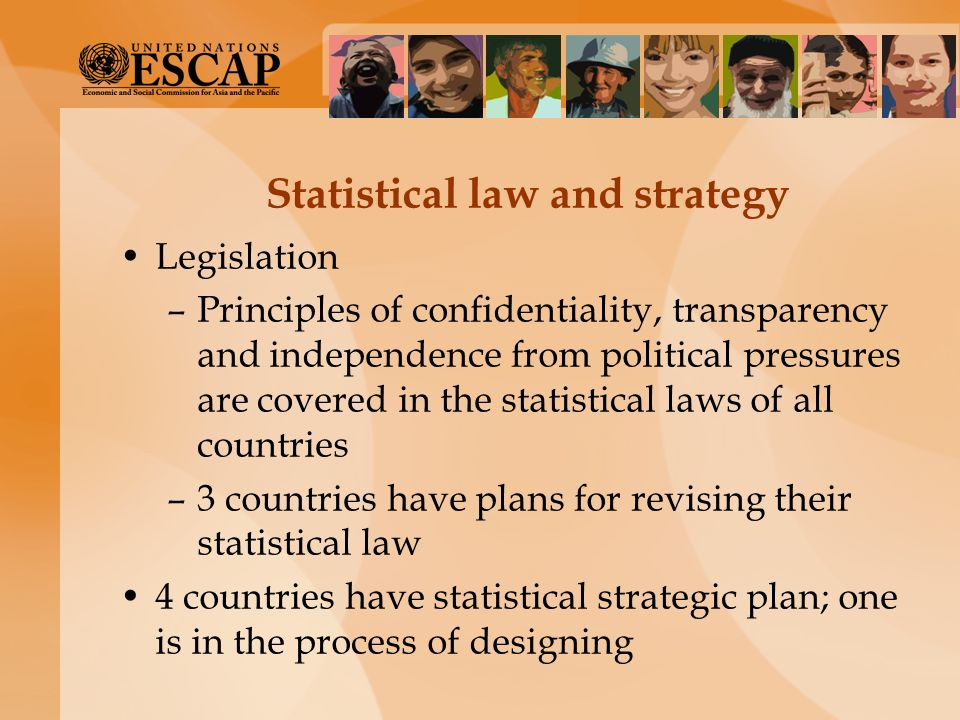 Statistical law and strategy