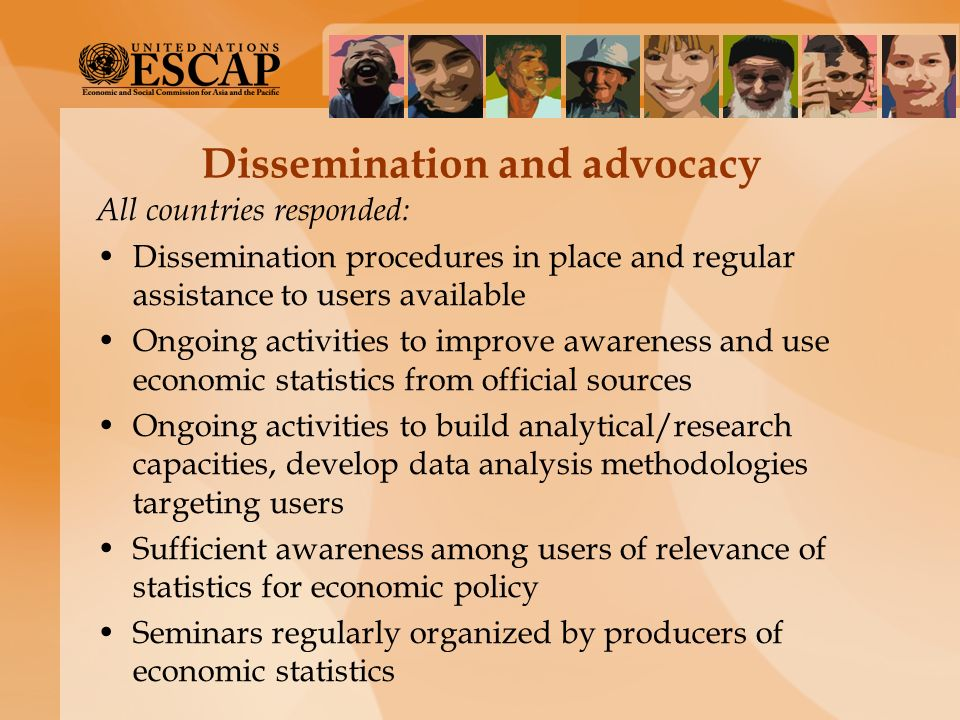 Dissemination and advocacy