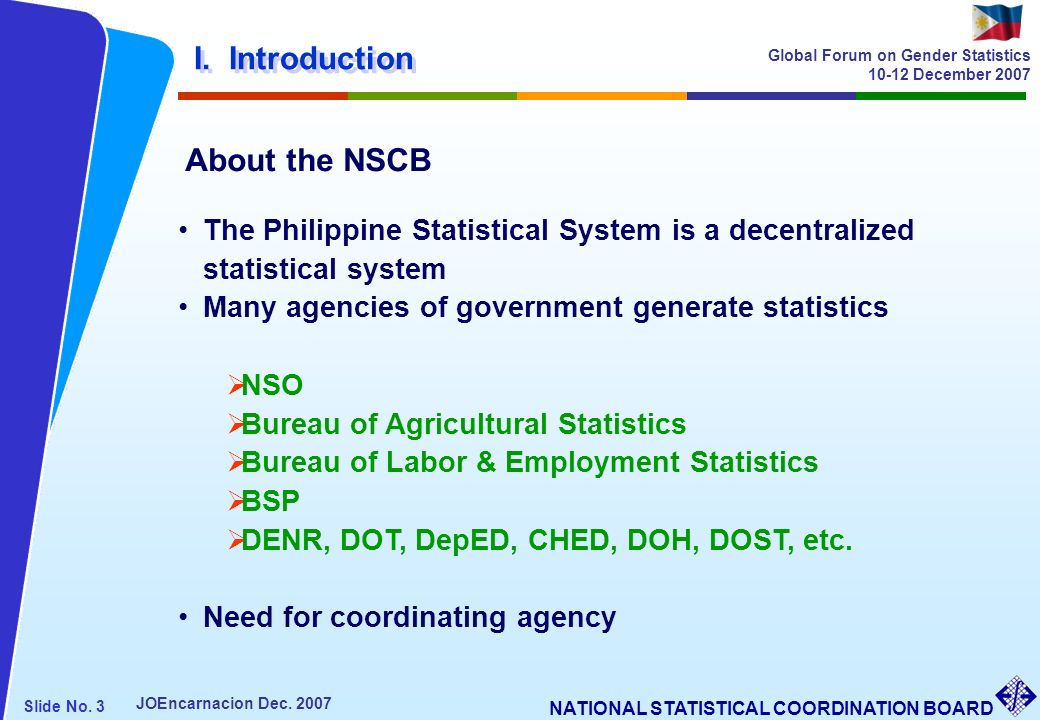 I. Introduction About the NSCB
