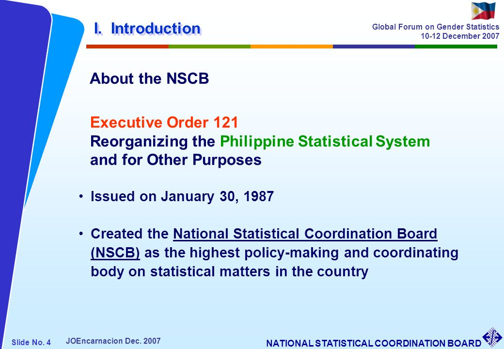 Reorganizing the Philippine Statistical System and for Other Purposes