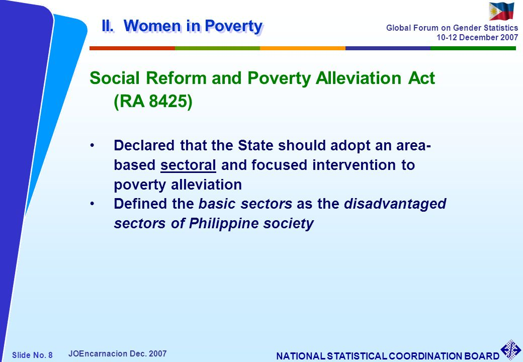 Social Reform and Poverty Alleviation Act (RA 8425)