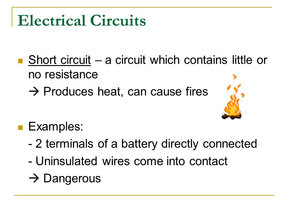 Electrical Short Circuit : Holt physics ch pages ppt video online download
