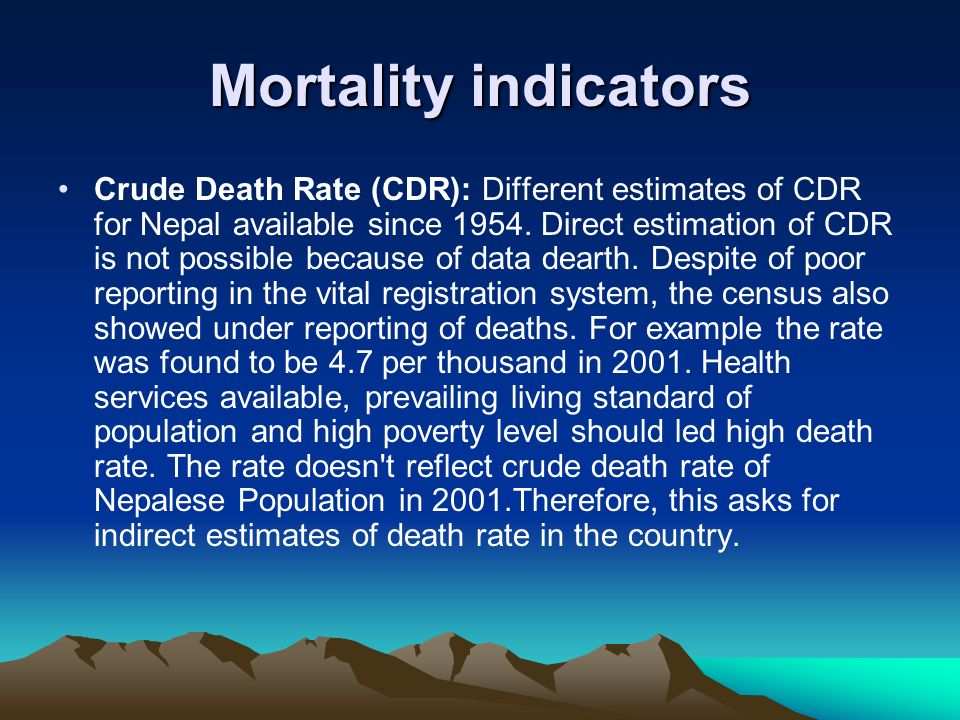 Mortality indicators