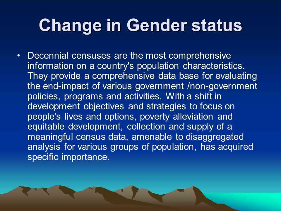 Change in Gender status