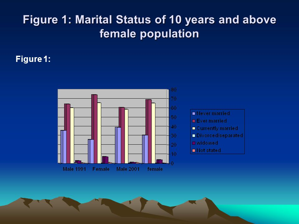 Figure 1: Marital Status of 10 years and above female population
