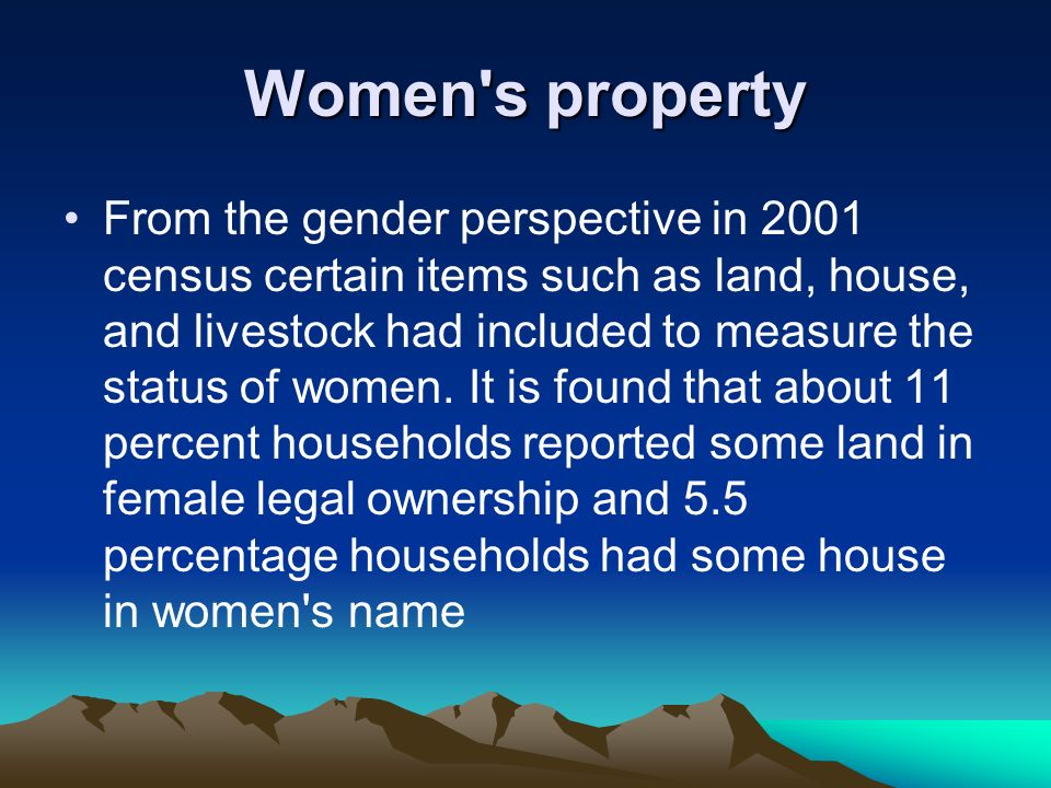 Women s property