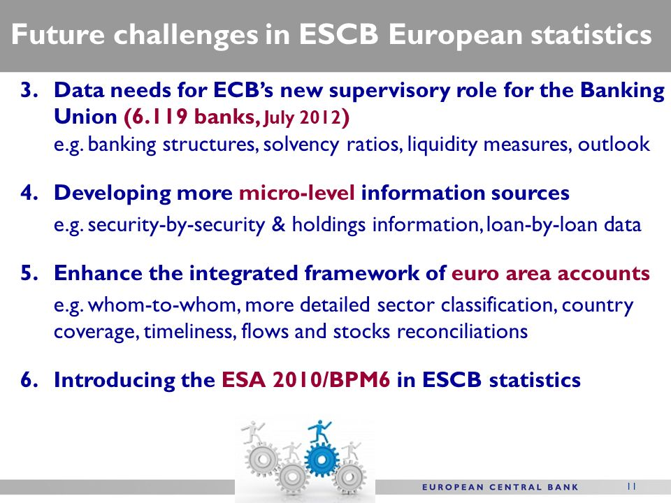 Future challenges in ESCB European statistics