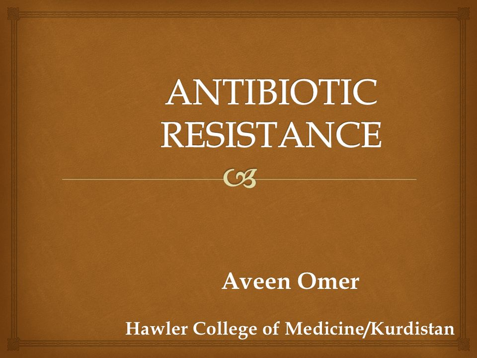 Antimicrobial resistance |authorstream.
