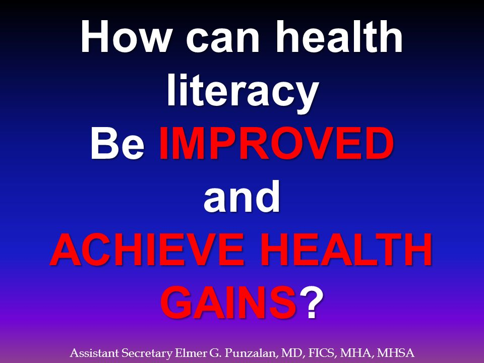 How can health literacy