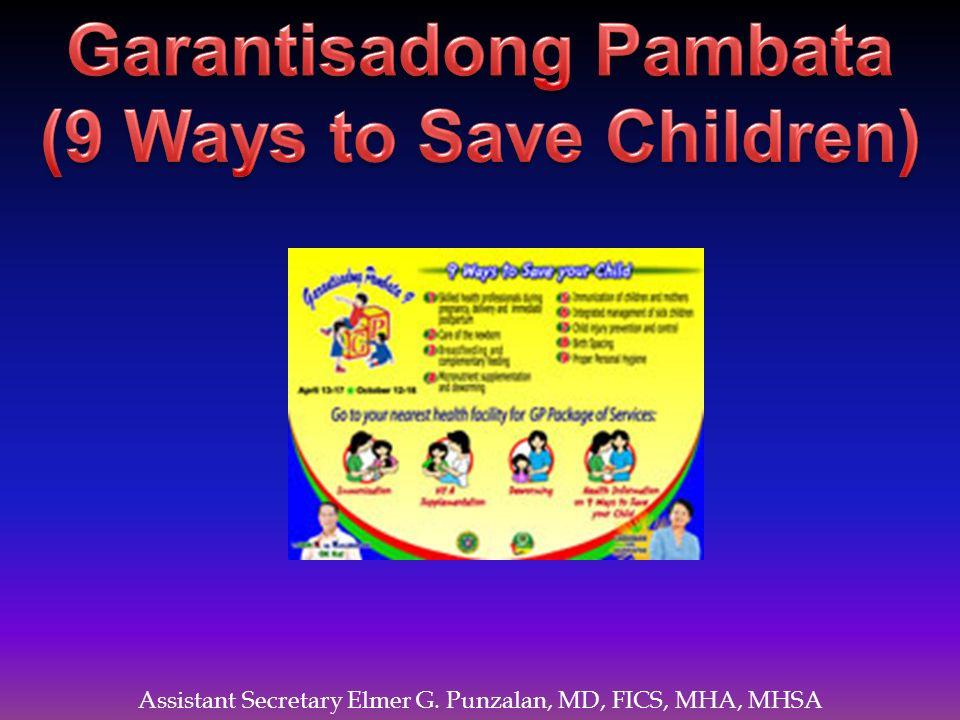 Garantisadong Pambata (9 Ways to Save Children)