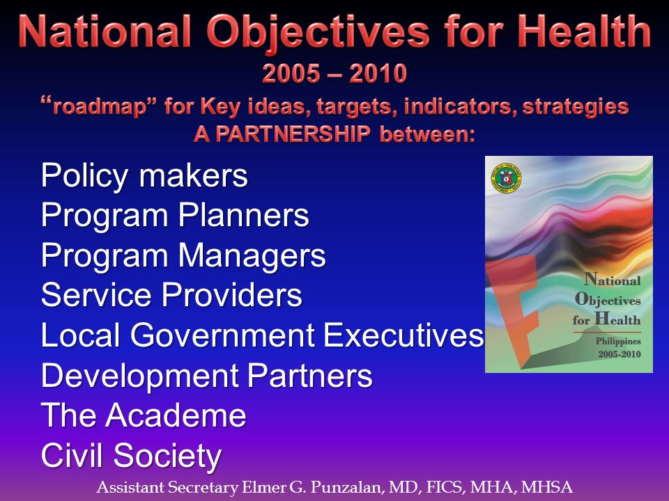 National Objectives for Health